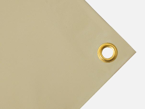 PVC  Plane, 600g/qm  - Farbe: beige - Größe: 3,25 m x 4,10 m ( 2. Wahl)