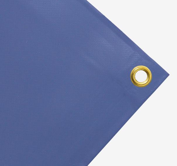 PVC Plane, 700g/qm Abdeckplane mit Ösen   Farbe: Oberseite blau/grau   Unterseite hellgrau   Größe: 2,10 m x 2,23 m (2.Wahl)[99 1051 BLGR 2,10 2,23]