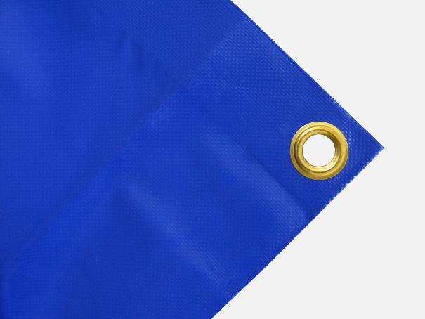 PVC Plane, 700g/qm Abdeckplane mit Ösen - Farbe: blau - Größe: 1,75 m x 3,00 m (2.Wahl)