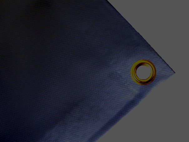Schwere Abdeckplane, PVC, 900g/qm - Farbe: dunkelgrau - Größe: 2,20 m x 2,40m ( 2. Wahl)
