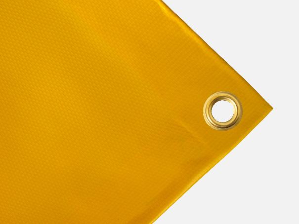 Abdeckplane, PVC, 600g/qm  - Farbe: gelb - Größe: 2,60 m x 4,90 m ( 2. Wahl)