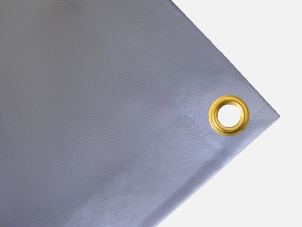 Abdeckplane Plane PVC, 600g/qm - Farbe: grau - Größe: 1,80 m x 3,20 m ( 2. Wahl)