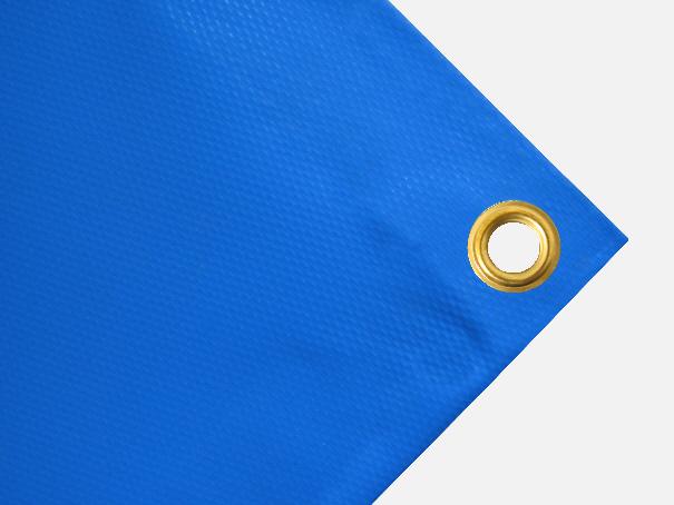 PVC Plane, 700g/qm Abdeckplane mit Ösen - Farbe: hellblau - Größe: 1,75 m x 4,80 m (2.Wahl)