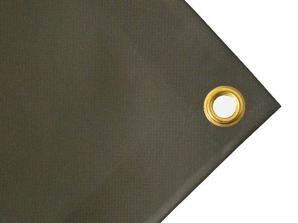 Schwere Abdeckplane, PVC, 1200g/qm - Farbe: oliv - Größe: 2,00 m x 2,00 m ( 2. Wahl)