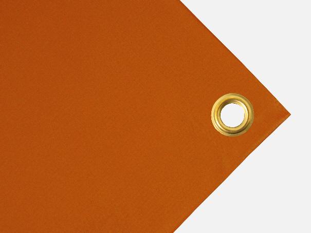 PVC Plane, 700g/qm Abdeckplane mit Ösen - Farbe: orange - Größe: 2,50 m x 3,00 m (2.Wahl)