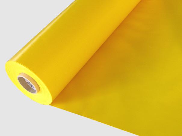 Abdeckplane PVC ca. 600g/m² Meterware - gelb/weiß 1,50 m breit (2. Wahl Ware)