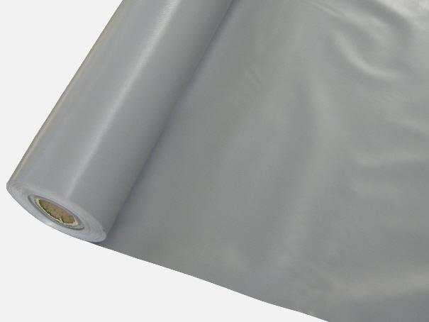 PVC Gewebeplane, Abdeckplane ca. 300g/m², einseitig PVC beschichtet, Farbe: grau - Meterware: Zuschnitt 2,00 m breit