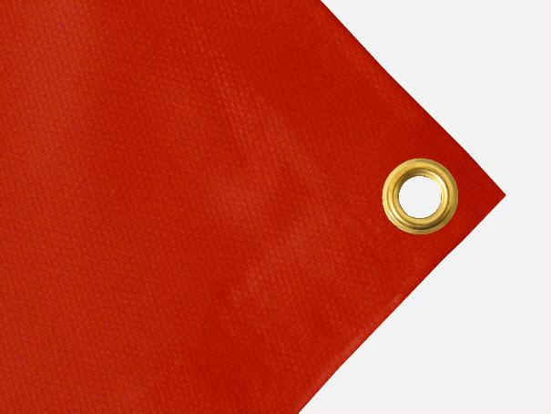 PVC  Plane, 600g/qm  - Farbe: rot - Größe: 1,40 m x 2,00 m ( 2. Wahl)