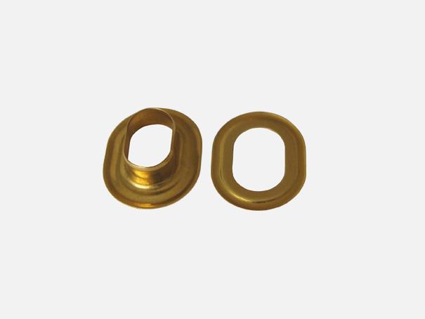 Ovalöse goldfarben, messing natur, 17 x 11 mm Innendurchmesser