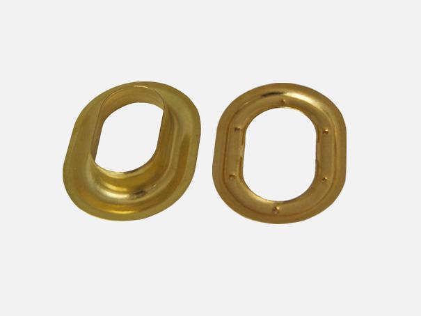 Ovalöse goldfarben, messing natur, 22 x 13 mm Innendurchmesser[06 1206 22 13 G 1]