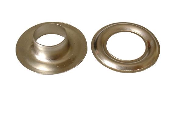 Metallöse, silberfarben, messing vernickelt, 20 mm Innendurchmesser
