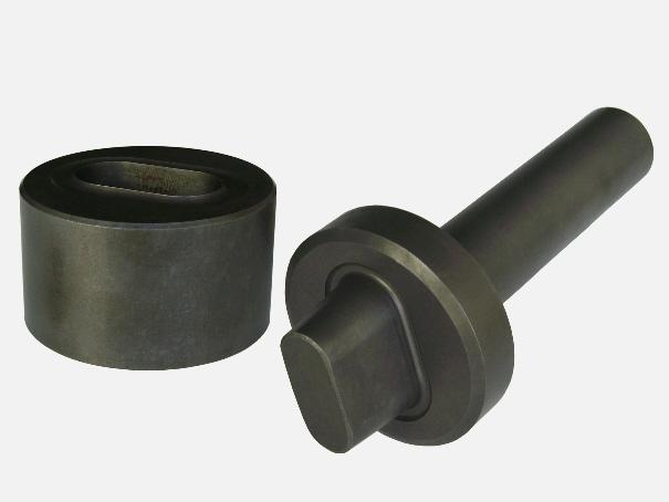 Einschlagwerkzeug für 22/13 mm Oval-Ösen, Einschlagstempel 2 tlg.