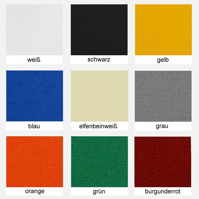 Polyesterstoff, ca. 200g/m² Farbe: versch. Farben, UNI - Meterware: Zuschnitt ca. 1,70 m breit