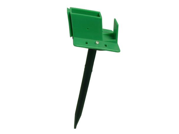Quick-Norm (F) Fußteil mit Erdspieß für Gewächshaus Pavillion Zelt (grün)