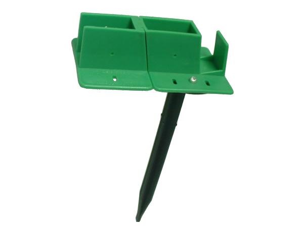 Quick-Norm (G) Eck-Fußteil mit Erdspieß für Gewächshaus Pavillion Zelt (grün)