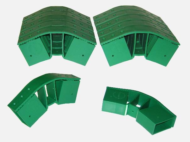 Vario Fix - Quick Steckverbinder für Gewächshaus Pavillion Zelt 12-er Set (grün)