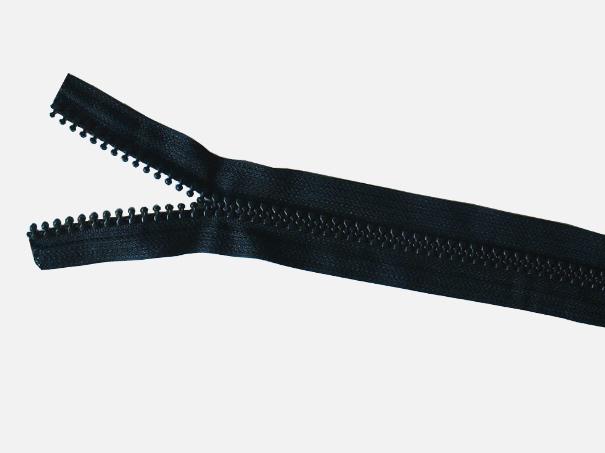 Reißverschluss, 8mm breit von der Rolle Farbe: schwarz (1 Laufmeter)