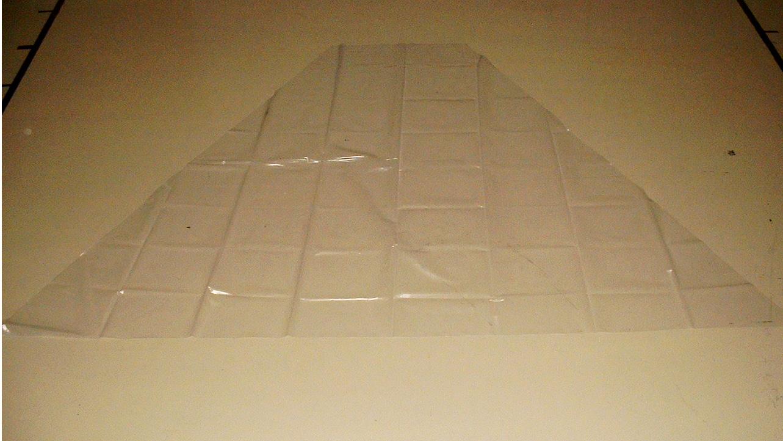 Gewächshausfolie UV 5, Trapez für Gewächshaus - 2,50 x 3,70 / 0,90m (2. Wahl)
