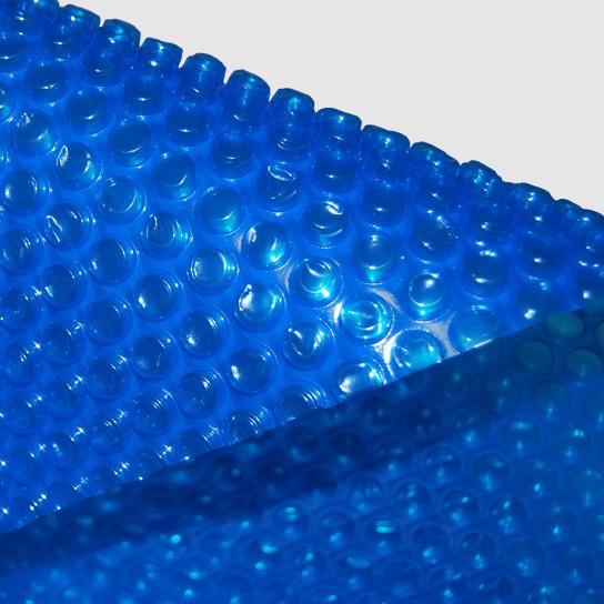 Solarfolie, Schwimmbadabdeckung, Schwimmbadfolie, Luftpolsterfolie, Poolabdeckung - Rollenware: Zuschnitt 3,80 m breit