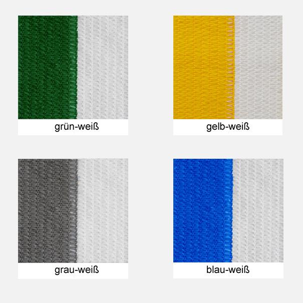 Sichtschutz, Windschutz, Sichtschutznetz, Windschutznetz, Sichtschutz, Windschutz, Zaunblende - versch. gestreifte Farben, Meterware: Zuschnitt 2,00 m breit