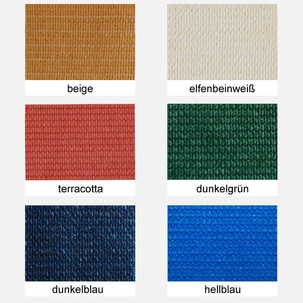 Sonnensegel, Sichtschutznetz, Windschutznetz, Sichtschutz, Windschutz, Zaunblende - versch. Farben, Meterware: Zuschnitt 3,80 m breit