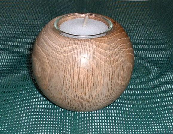 teelicht kugel aus eichenholz ca 10 cm im durchmesser gekaho. Black Bedroom Furniture Sets. Home Design Ideas