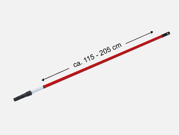 Universalpainter Zubehör: Teleskopstab, Verlängerungsstab, Teleskopstiel, rot-weiß