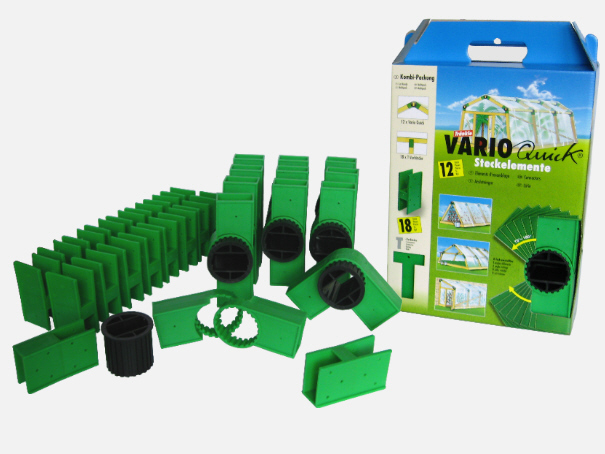 Varioquick großer Steck - Bausatz 30 Teile Spar Set (schwarz)