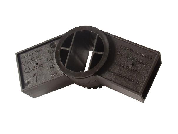 Varioquick Steckelement Stecksystem für verschiedene Konstruktionen (schwarz)