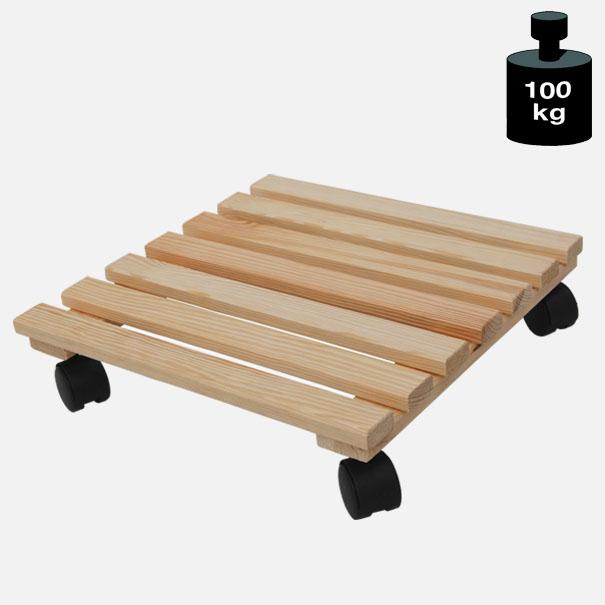 Multi Roller: Transporthilfe, Pflanzenroller, Blumenwagen,  Natur  Größe: ca. 35 x 35 cm[14 0834 01]