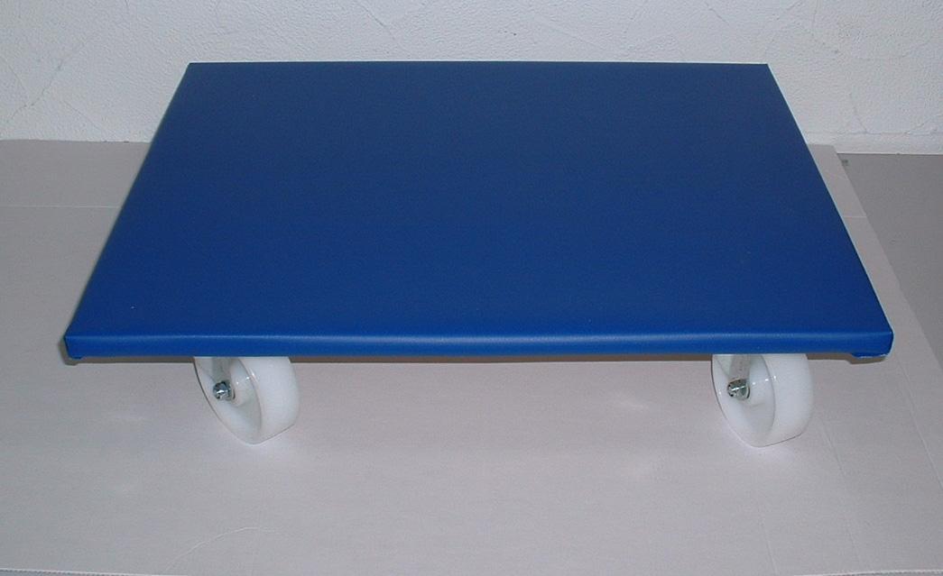 Transporthilfe, Möbelhund, Rollwagen, mit rutschhemmender PVC Beschichtung + 4 Lenkrollen, Größe: ca. 50 x 60 cm