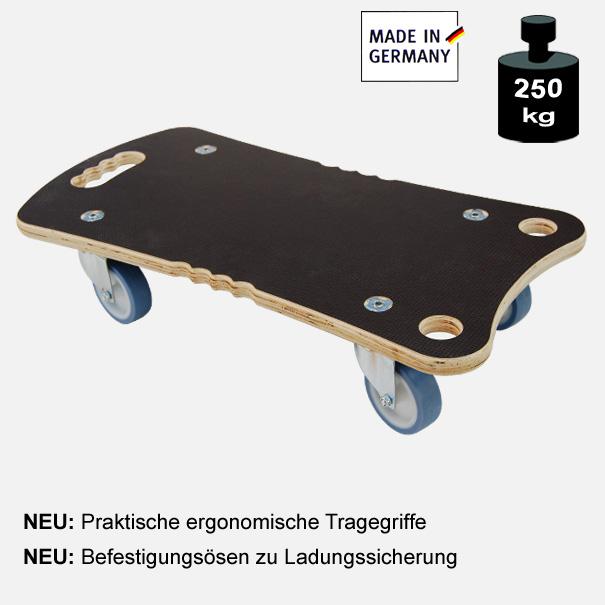 """Multimobil: Transporthilfe, Möbelhund, Rollwagen, """"Maxi Grip Ergo"""" Größe: ca. 27 x 57 cm"""