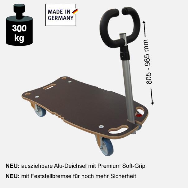 Multimobil: Transporthilfe, Rollbrett, Rollwagen,  Maxi Grip Superior  Größe: ca. 40 x 80 cm[14 1177 01]