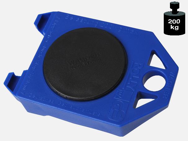 Rolly: Transporthilfe, Möbelrollhilfe, blau, Größe: ca. 8 x 12 cm