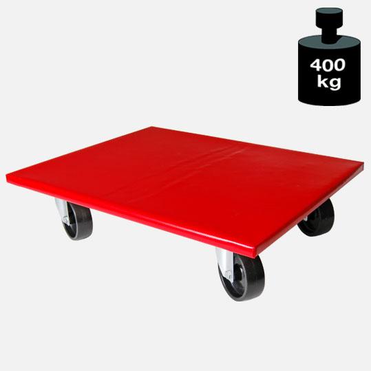 Transporthilfe, Möbelhund, Rollwagen, mit rutschhemmender PVC Bespannung, 2 Lenkrollen + 2 Feststellrollen mit Bremse, Größe: ca. 50 x 60 cm[14 1115 50 60 FB]