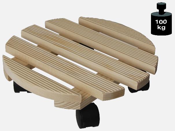 Multi Roller: Transporthilfe, Pflanzenroller, Blumenwagen,  Natur  rund,  Durchmesser: ca. 30 cm[14 0181 01]