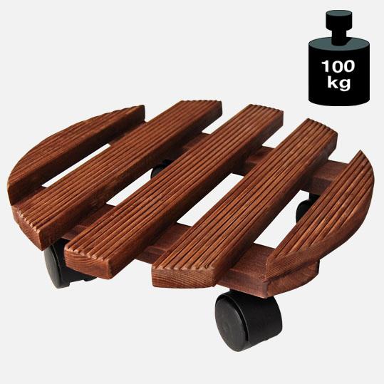 Multi Roller: Transporthilfe, Pflanzenroller, Blumenwagen,  Palisander  rund, Durchmesser: ca. 30 cm[14 0183 01]