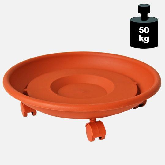 Multi Roller: Transporthilfe, Pflanzenroller, Blumenwagen,  terracotta  rund, Durchmesser: ca. 35 cm[14 1031 01]