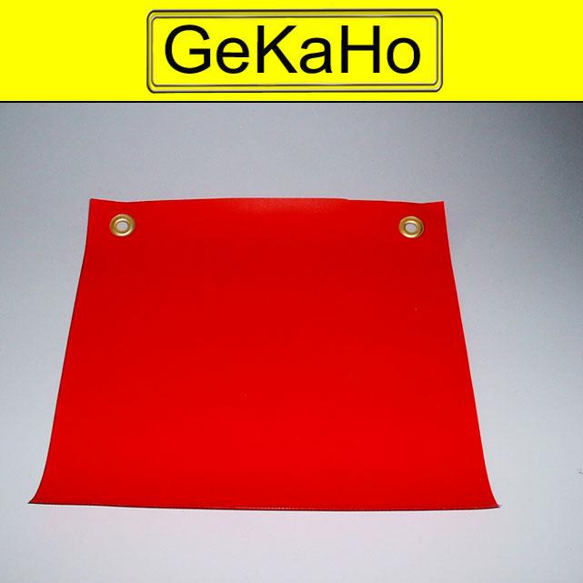 Warnfahne Warnflagge Endfahne Überlänge Markierung 30 x 30 cm, rot