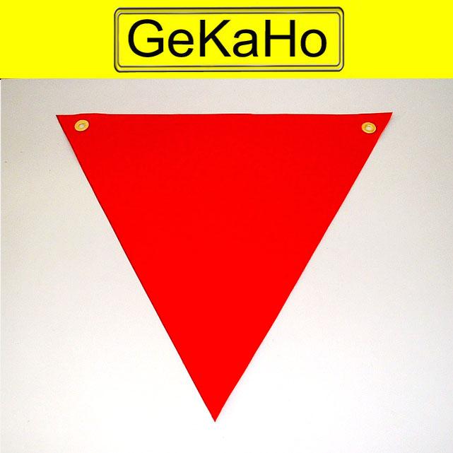 Warnfahne Warnflagge Schlussfahne Warndreieck für Überlängen Transporte 60 x 60 x 60 cm, rot
