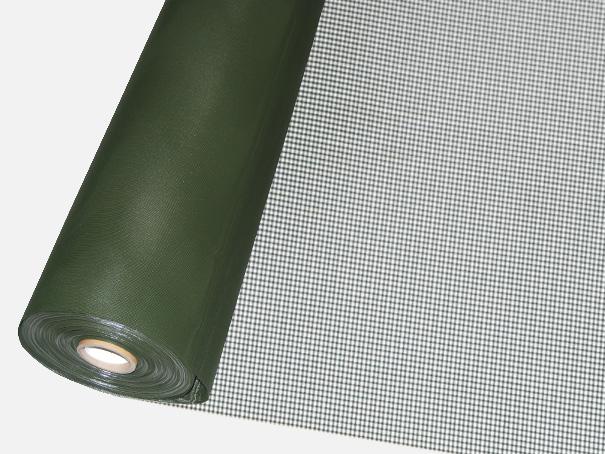Windschutz Matte, Windbruchnetz, Boxenschutz, Containernetz - Meterware: Zuschnitt 1,00 m breit, oliv