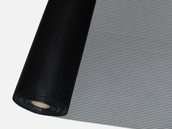 Windschutz Matte, Windbruchnetz, Boxenschutz, Containernetz - Meterware: Zuschnitt 1,00 m breit, schwarz